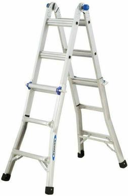 Multi Position Ladder Extension Reach Aluminum Telescoping A