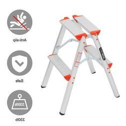 Multi Purpose 2 Step Ladder Foldable Step Stool Ladder Light