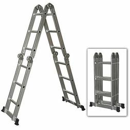 Best Choice Products Multi Purpose Aluminum Ladder Folding S