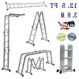Multi-Purpose Aluminum Ladder Folding Step Ladder Scaffold E