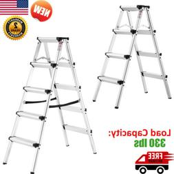 Multi Purpose Non-slip Aluminum Step Stool Ladder Folding 33