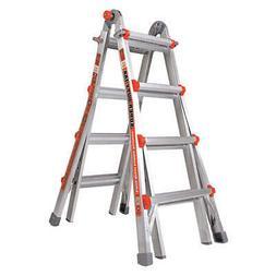 LITTLE GIANT 10402 Multipurpose Ladder,17 ft.,IAA,Aluminum