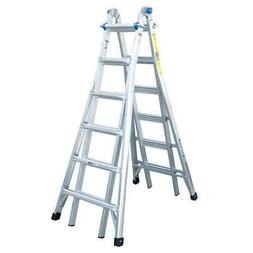 WERNER Multipurpose Ladder,26 ft.,IA,Aluminum, MT-26