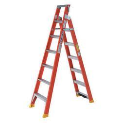 WERNER DP6206 Multipurpose Ladder,6 ft. H,Fiberglass