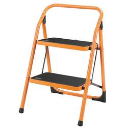 New 2 Step Ladder Portable Folding Step Stool Anti-Slip 330L