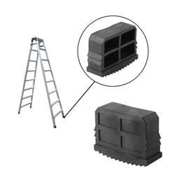 2Pcs Rubber Non-Slip Replacement Part Step Ladder Feet Foot