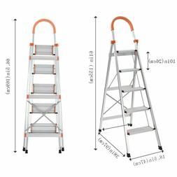 NEW 3 Step Ladder Heavy Duty Folding Stepladder Platform Sto