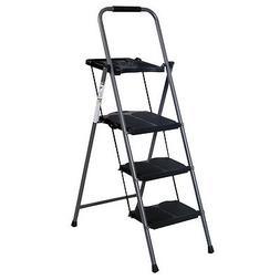 New HD 3 Step Ladder Platform Folding Stool 330 LBS Capacity