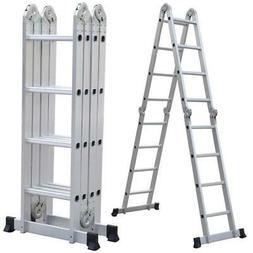 New Hot 15.5ft Multi Purpose Telescopic Ladder Heavy Duty Fo