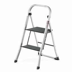 NEW Delxo Lightweight Aluminum 2 Step Ladder Step Stool Sing