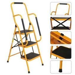 New Portable 3 Step Ladders Folding Step Stool Lightweight 3