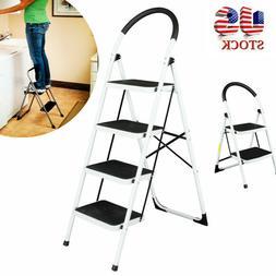 Non-slip 2 /4 Step Aluminum Ladder Folding Platform Stool 33