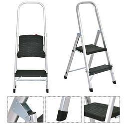 Non-slip 2 Step Aluminum Ladder Folding Platform Stool 330 l
