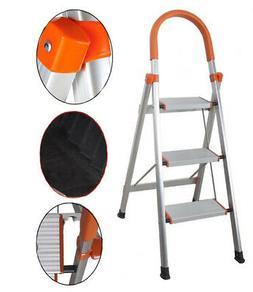 Non-slip 3 Step Aluminum Ladder Folding Platform Stool 330 l