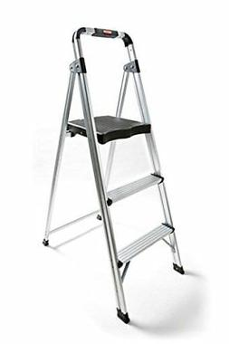 Non-slip 3 Step Aluminum Ladder Folding Platform Stool 225lb