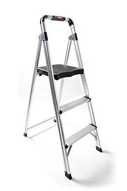 Non-slip 3 Step Aluminum Ladder Folding Platform Stool 225lb