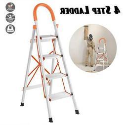 non slip 4 step aluminum ladder foldable
