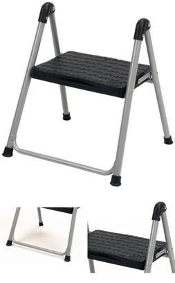 One Step Steel, Resin Steps Stool without Handle, Platinum/B