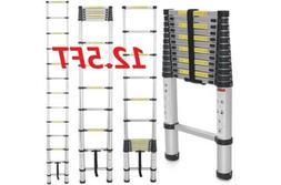 OxGord 12.5 ft Aluminum Telescopic Extension Ladder EN131 Ce
