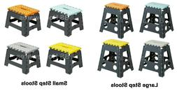 PLASTIC FOLDING STEP STOOL LADDERS DIY STOOLS COLLAPSIBLE/FO