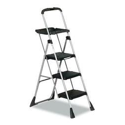 Cosco 3-Step Work Steel Platform Ladder, 22w x 31d x 55h, Bl
