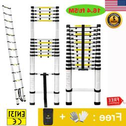 16.4FT Aluminium Ladders Telescoping Multi-Purpose Extension