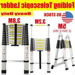 Portable 3.2-5M Step Ladder Extension Telescoping Lightweigh