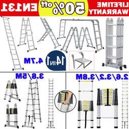 portable aluminum multi purpose telescopic ladder extension