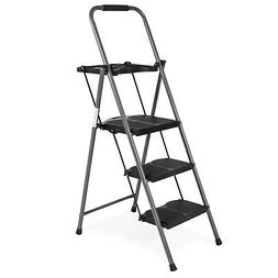 Best Choice Products Portable Folding 3-Step Ladder with Rub