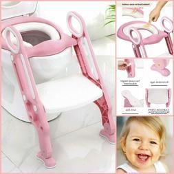 Potty Training Soft Cushion Seat Step Stool Ladder for Kids
