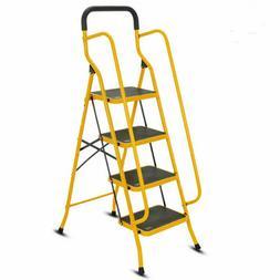 Protable 2 3 4 Steps Ladder Folding Non Slip Safety Heavy Du