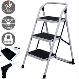 protable 3 step ladder folding non slip