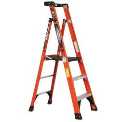 Werner 9 ft Reach Fiberglass Podium Step Ladder 300 lb Load