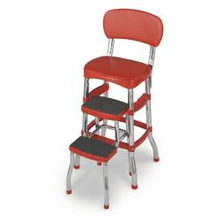 Cosco Retro Counter Chair Vintage Red Garage Step Stool Seat