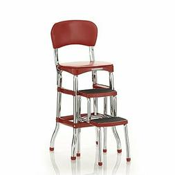 Cosco Red Retro Counter Chair / Step Stool