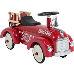 Best Choice Products Ride On Fire truck speedster Metal Car