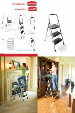 Terrific Rubbermaid Rm 3W Folding 3 Step Steel Frame Stool Alphanode Cool Chair Designs And Ideas Alphanodeonline