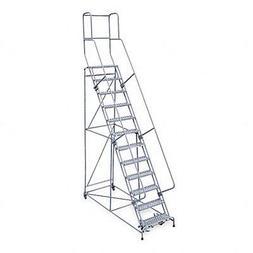Rolling Ladder, Unassembled, Handrail, Platform 120 In H