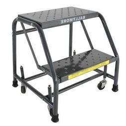 BALLYMORE Rolling Ladder,Steel,19 In.H, 218PSU, Gray