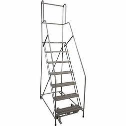 Cotterman  Ladder w/CAL OSHA Rail Kit - 70in Max. Height