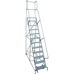 Cotterman Rolling Steel Ladder - 450-Lb. Capacity, 12-Step L