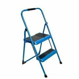 S322BB-1 Werner 2-Step Type II Bright Blue Steel Step Stool