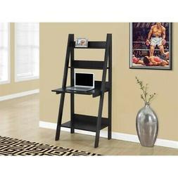 """Scranton & Co 61"""" Ladder Style Computer Desk in Cappuccino"""