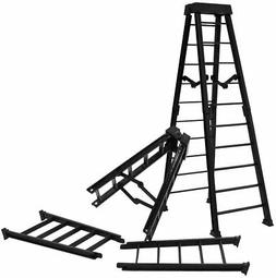 Set of 2 Large 10 Inch Breakaway Black Ladders for WWE Wrest