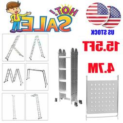 4.7M Scaffold Extendable Multi-Purpose Folding Ladder With S