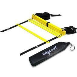 Yes4All Speed and Agility Training Ladder with Carry Bag - 8
