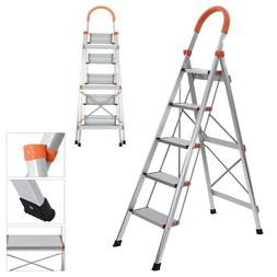 Step Ladder 3 Steps 5ft Folding Stool Flip-n-Lite 330 Pounds