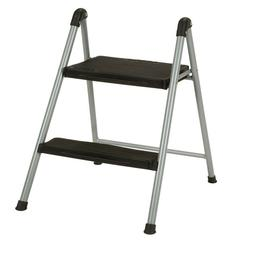 Step Stool Lightweight Steel Ladder 200 lb. Load Capacity Re