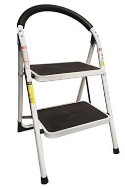 StepUp Heavy Duty Steel Reinforced Folding 2 Step Ladder Sto
