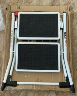 Delxo Step Stool Stepladders Lightweight White Folding Step